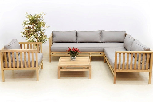 Sofa Set with Arm Chair Coffee Table and Coffee Table