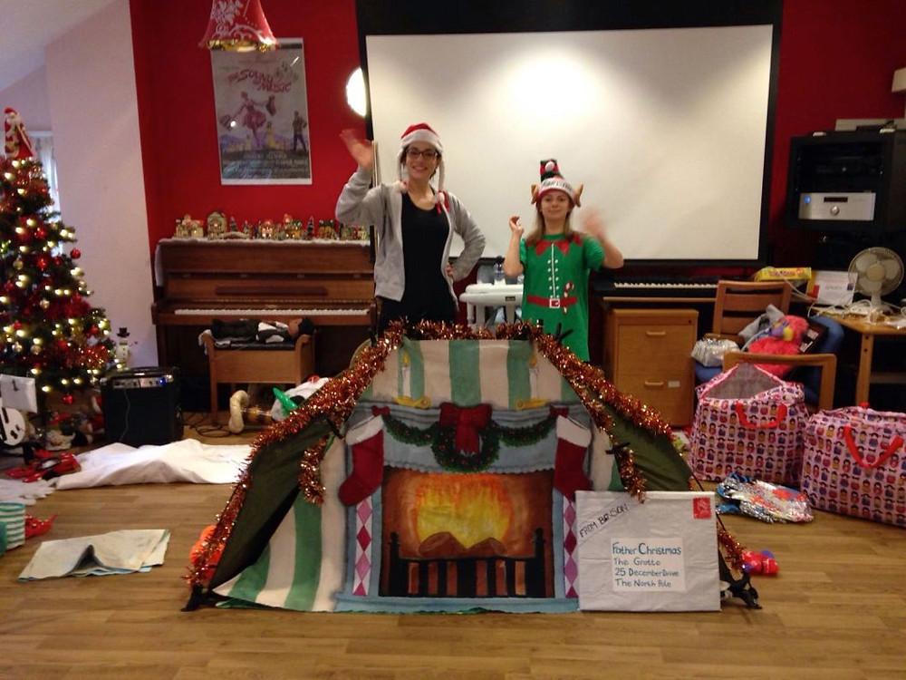 Caitlin and Elf love Christmas!