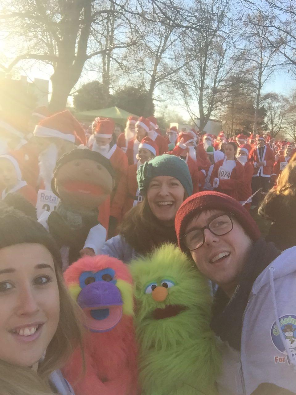 Raising funds at the Marlow Santa Fun Run 2016