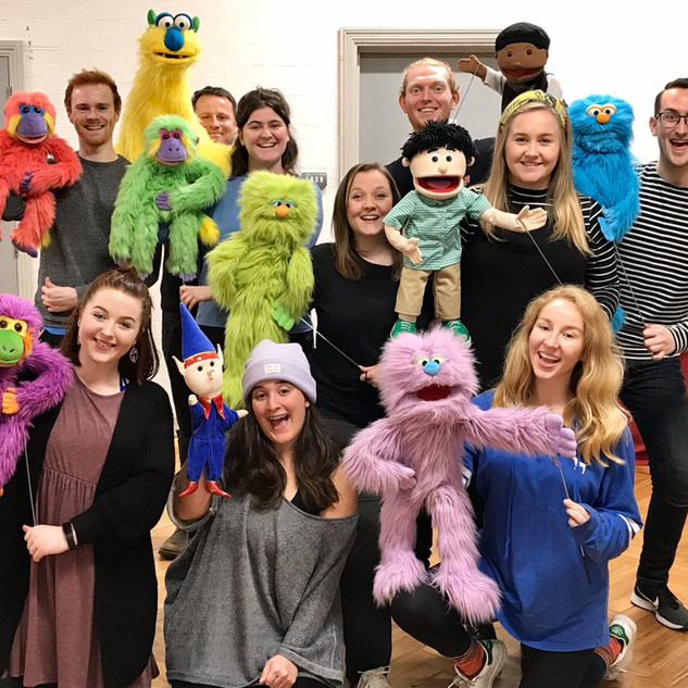 Our 2019 cast in rehearsals