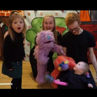 Puppets making friends
