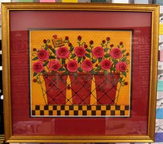 Marcia's pots of flowers