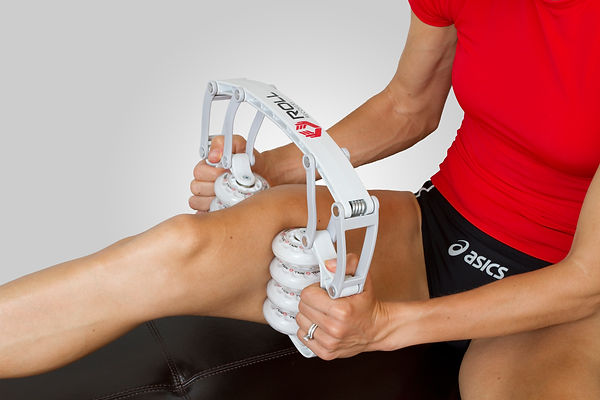 Roll Recovery Massage Tool in use