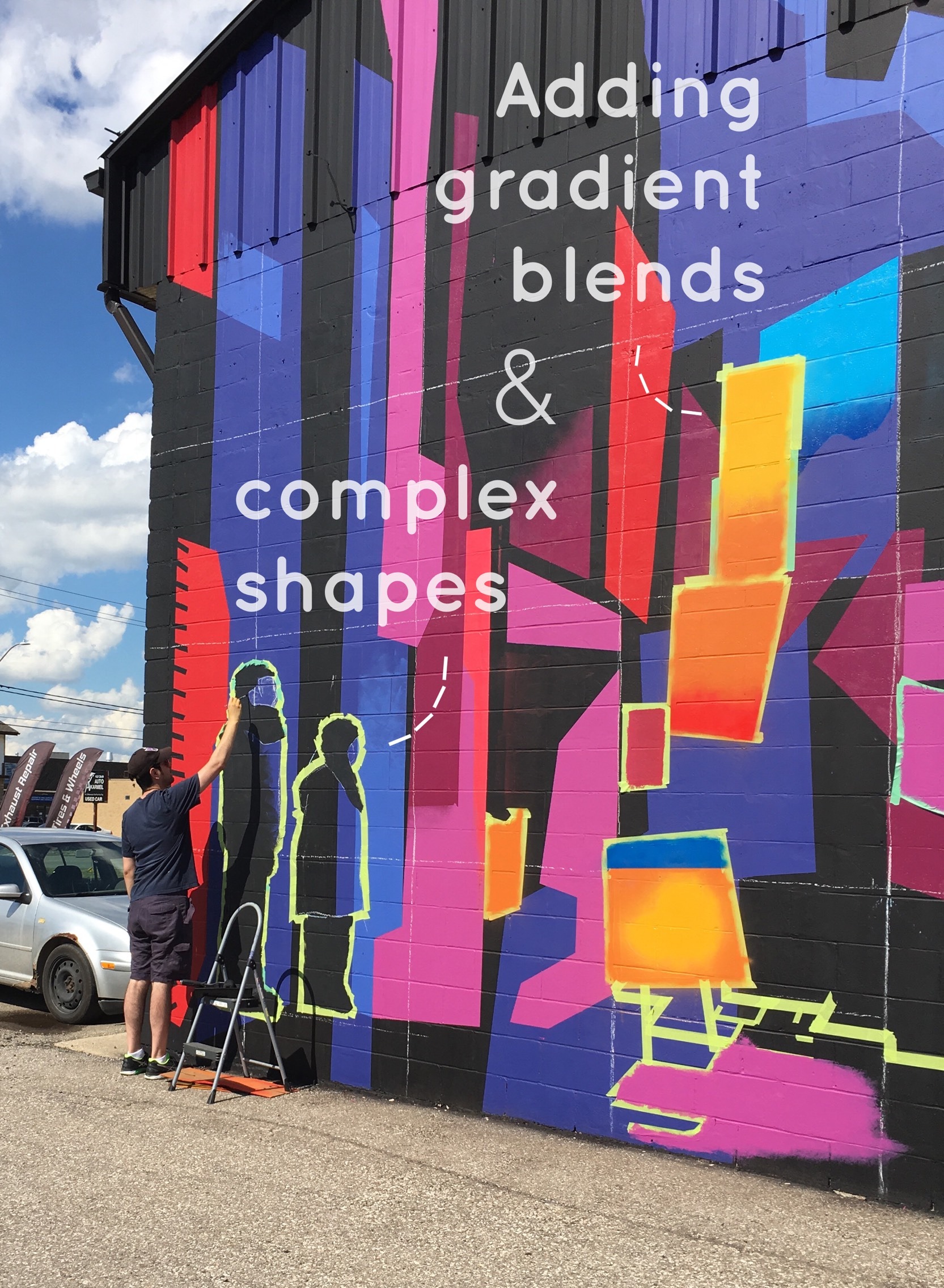 mural gradients and complex shapes