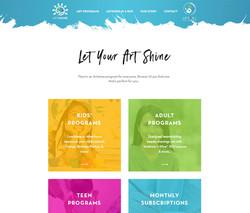 ART SCHOOL WEBSITE & RE-BRANDING