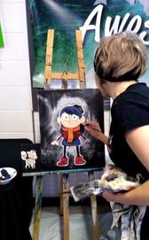 Choolee painting Hilda and Twig