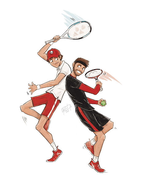 Tennis-caricature-gift-for-friend