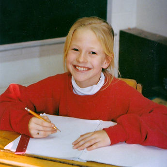 Artist Choolee as a child