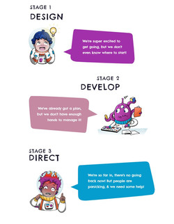 INFOGRAPHIC WITH CHARACTERS