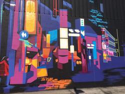 Kitchener mural progress shot