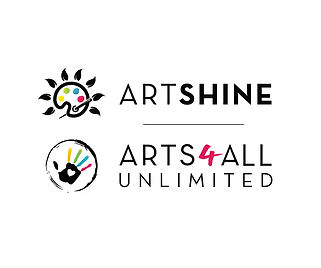 Artshine and Arts4All Logo Lockup