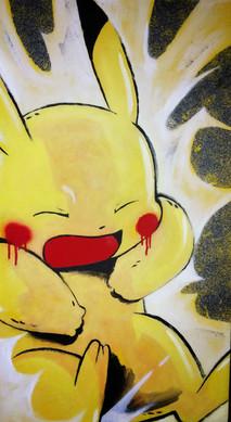 Pikachu Mid-Sneeze
