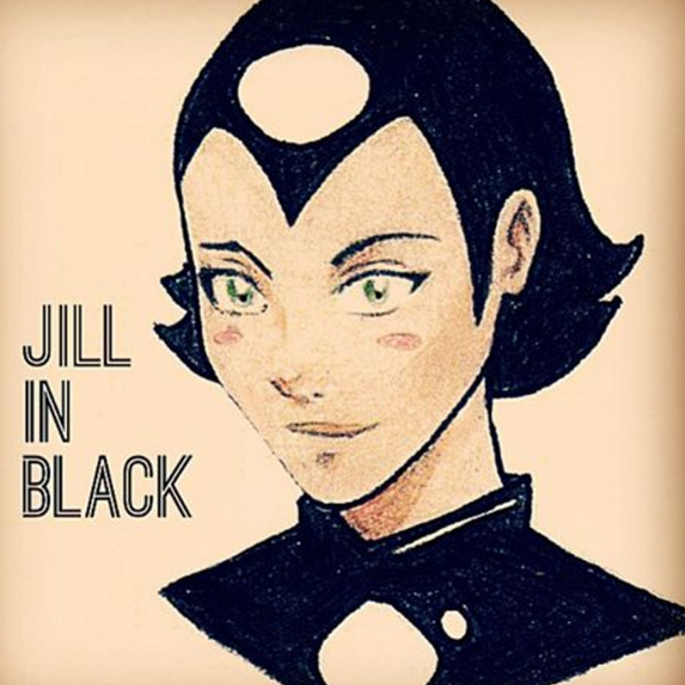 superhero, heroine in black, jill, sands of the sea, portrait
