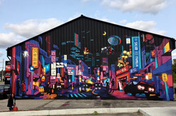 Finished Mural by Choolee