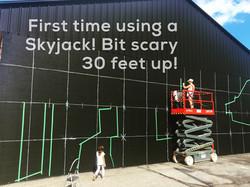 skyjack for mural