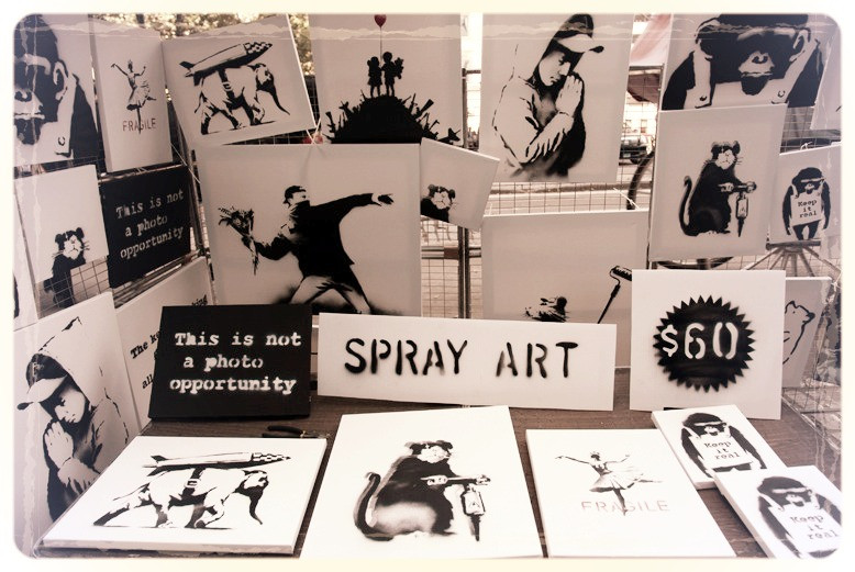 banksy art, spray art, this is not a photo opportunity, art industry hypocrisy