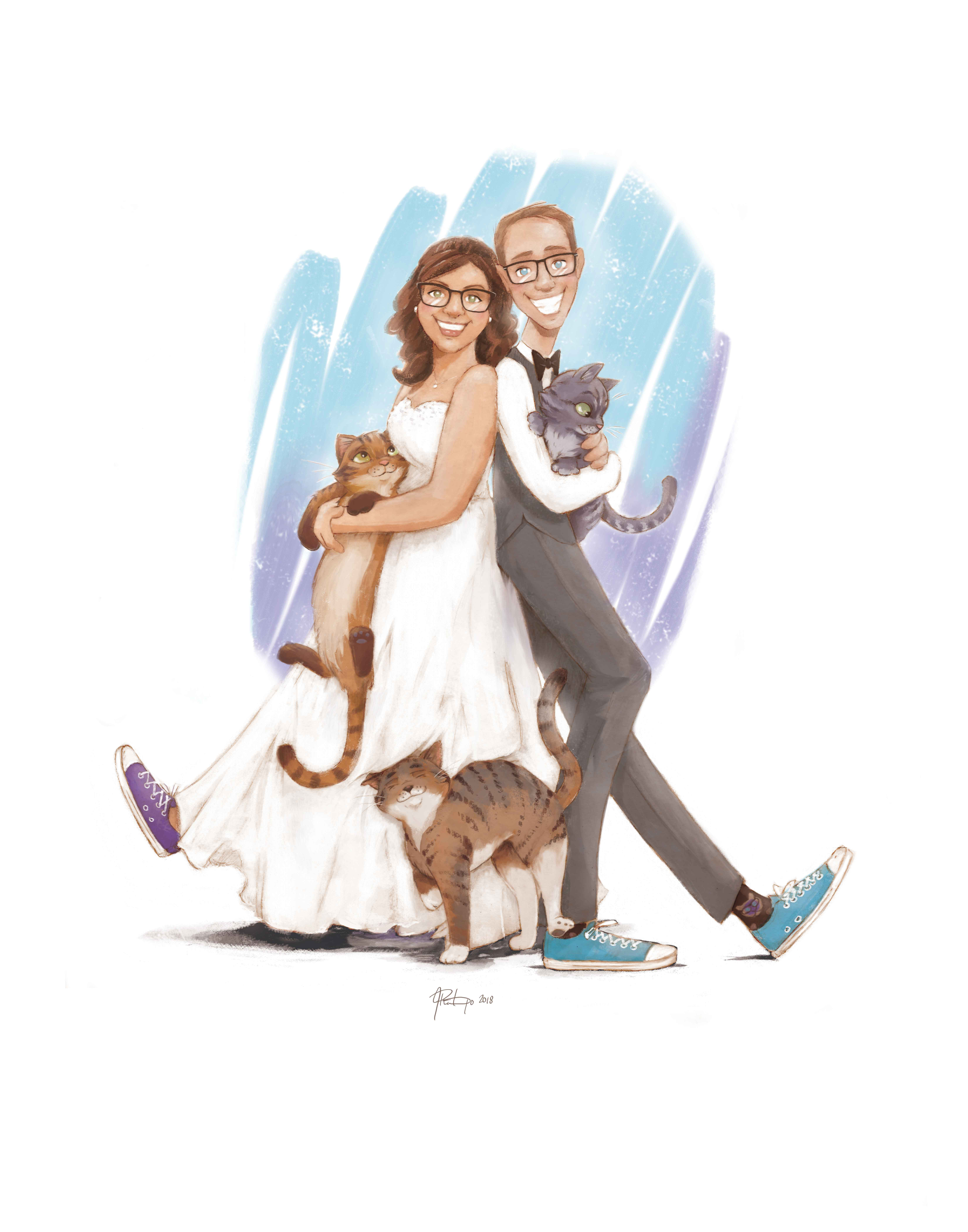 Wedding Portrait Caricatures