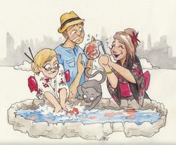 Family Trip Cartoon Snapshots
