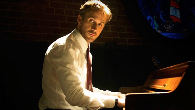 ryan gosling, la la land, piano, mood lighting, final scene