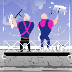 WINDOW CLEANING VECTOR GRAPHICS