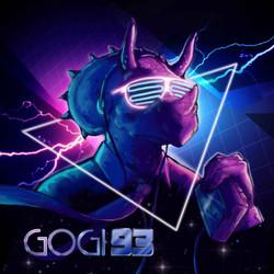 Triceratops Profile Art for Musician Gogi 93
