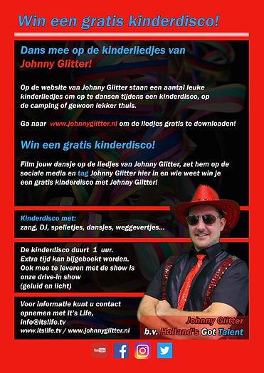 Johnny Glitter  Win een gratis kinderdis