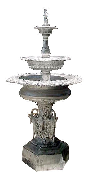 3 Tier Jumbo Swan Fountain, Self Contained-H.7'