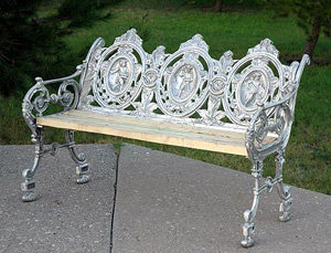 "Two Seasons Bench, Aluminum-H:33""L:37"""