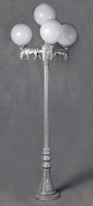 """Vienna Lamp with Small Bull 4 Arm 5 Light-H:7'3"""""""