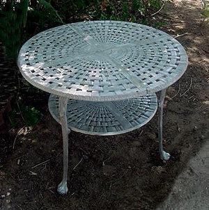Basketweave Ice Cream Table