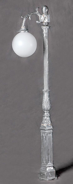 Early American Lamp with 1 Arm Down-H: 6'10""