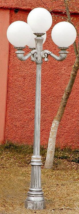 New Orleans Lamp, 3 Arm 4 Light-H:7'