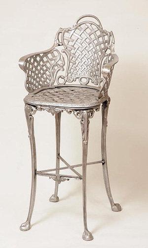 Basket Weave Bar Stool