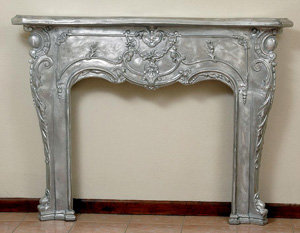 "Fireplace Mantle-H.45""W.62"""