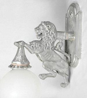 Lion Sconce: H.18.5'' W.6'' Proj.22''
