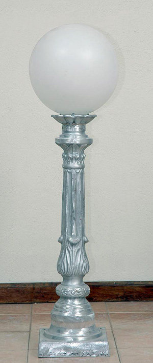 "Balboa Walkway Lamp W/4"" Fitter; 31"" Tall; 9.5"" Square Base"