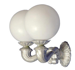 Double Victorian Sconce, Clover Back
