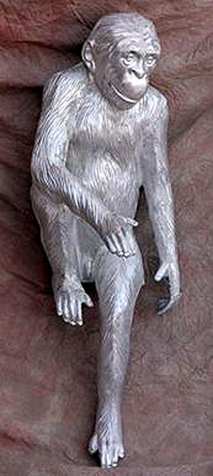 Sitting Monkey: H.37'' W.27'' L.16''
