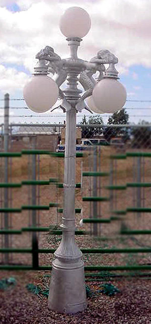 "Mermaid Lamp, 4 Arm 5 Light-H.9'5"""