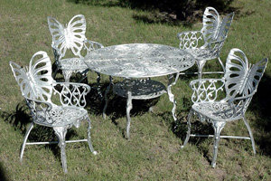 "Butterfly 5 Piece Patio Set-H:26""D:37.5"""