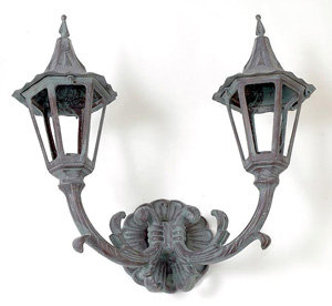 Double Vienna Sconce with Small Holland Top