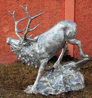 Elk on Stone, Medium