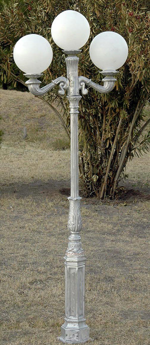 Early American Lamp, 2 Arm 3 Light-H:7'