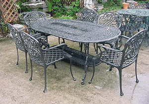 French 7 Piece Patio Set