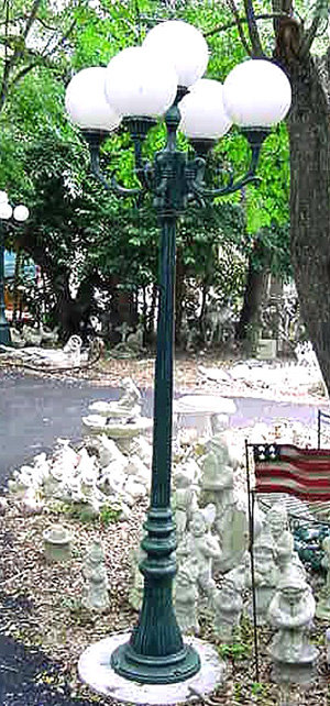 "Vienna Lamp, 4 Arm 5 Light-H:7'3"""