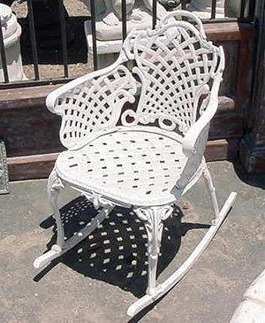 Basketweave Rocking Chair
