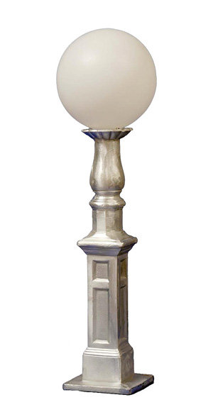 """Petite Walkway Lamp: H 37"""", 9"""" Sq Base"""