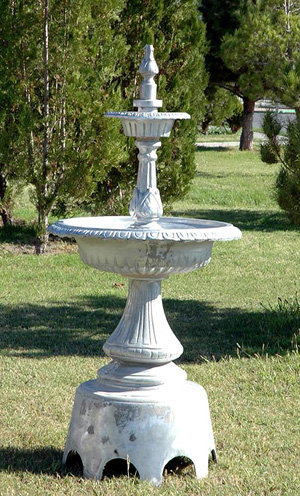 2 Tier Victorian Fountain with Arches-H.59""