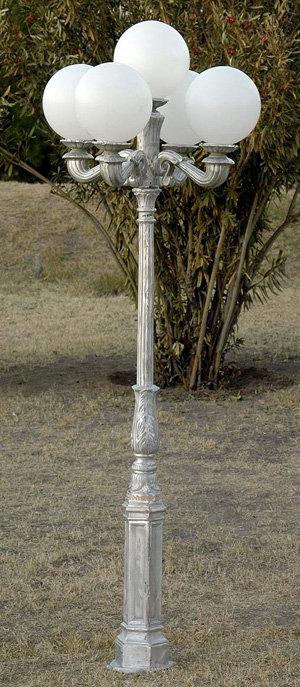 Early American Lamp, 4 Arm 5 Light-H: 7'