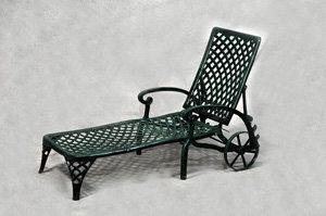 Cross Weave Chaise Lounge